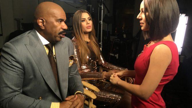 Miss Colombia y Steve Harvey juntos