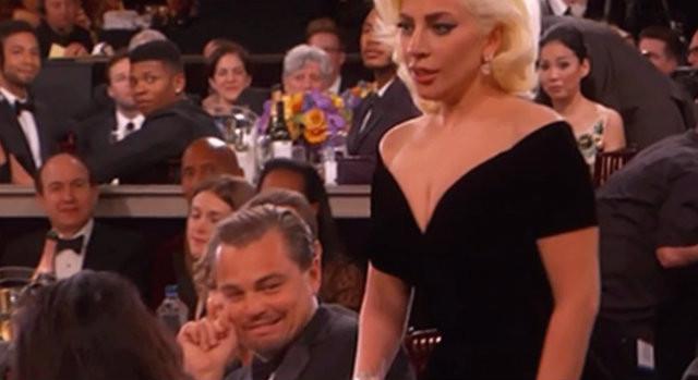 Leonardo DiCaprio y Lady Gaga