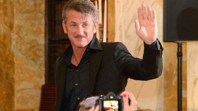 Sean Penn Life Ball Gold press