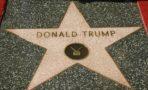 Vandalizan estrella de Donald Trump en