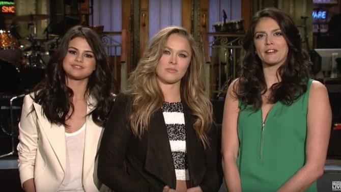 Selena Gómez y Ronda Rousey en