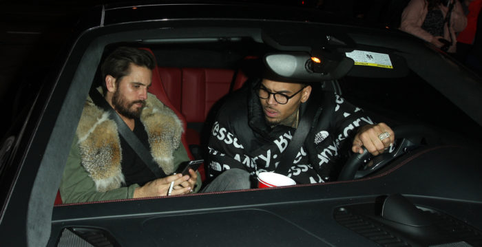 Chris Brown y Scott Disick