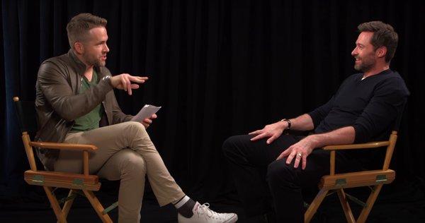 Video de Ryan Reynolds Entrevistando Hugh