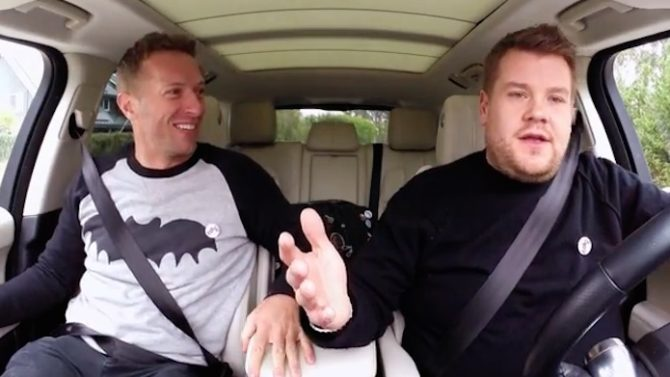 Chris Martin en 'Carpool Karaoke' con