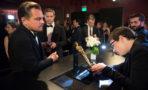 Leonardo DiCaprio graba su premio Oscar