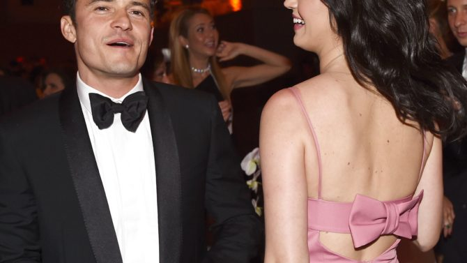 Orlando y Bloom y Katie Perry