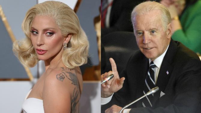 Lady Gaga y Joe Biden unen
