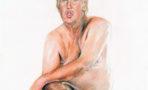 Pintura de Donald Trump desnudo