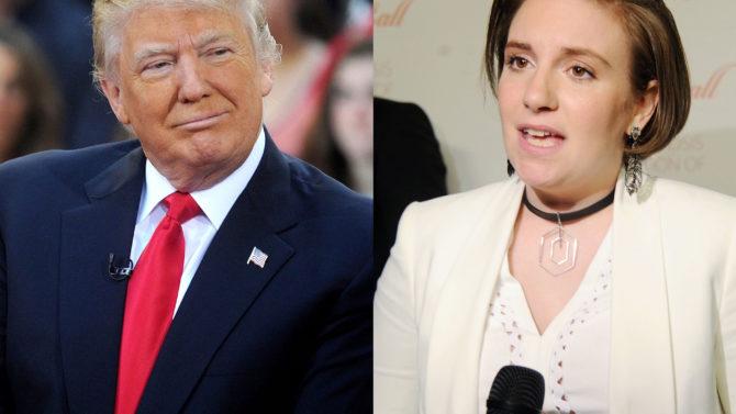 Donald Trump arremete contra Lena Dunham