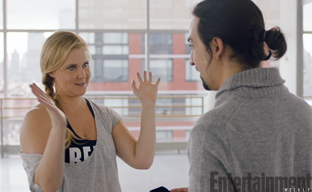 Amy Schumer Tries to Impress Lin-Manuel