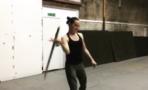 Mira a Daisy Ridley practicar su