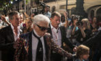 Fashion designer Karl Lagerfeld arrives the