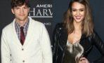 Jessica Alba y Ashton Kutcher entre