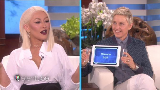 Video de Christina Aguilera cantando como