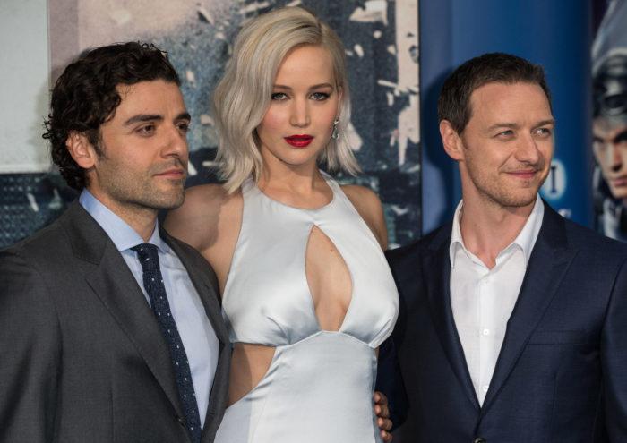 Oscar Isaac, Jennifer Lawrence y James McAvoy