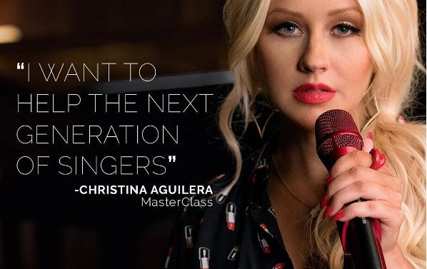 Christina Aguilera se convierte en profesora