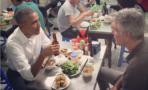 El presidente Obama cena con Anthony