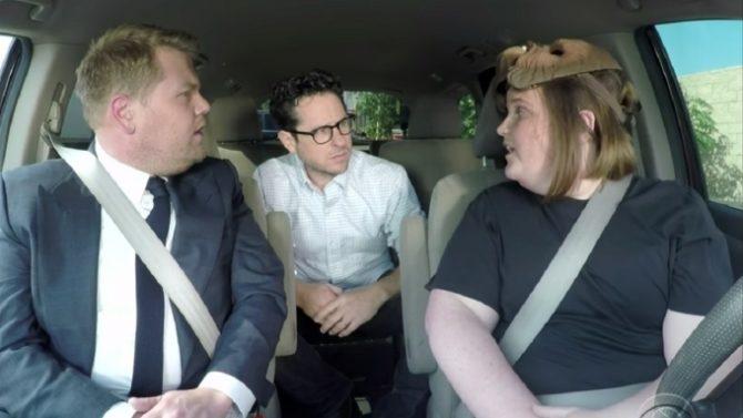 James Corden and Chewbacca Mom Carpool