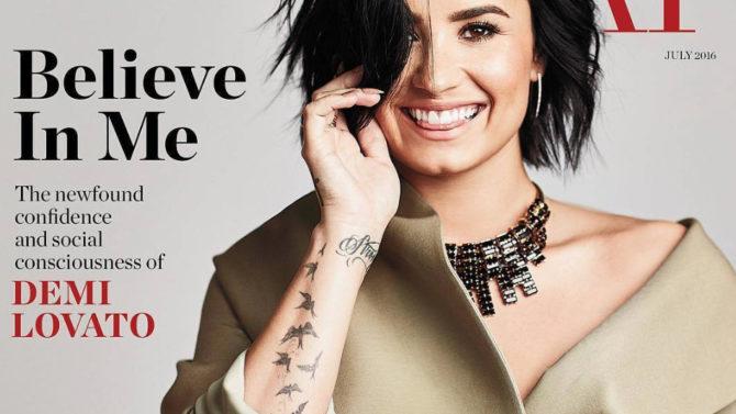 Foto de Demi Lovato portada American