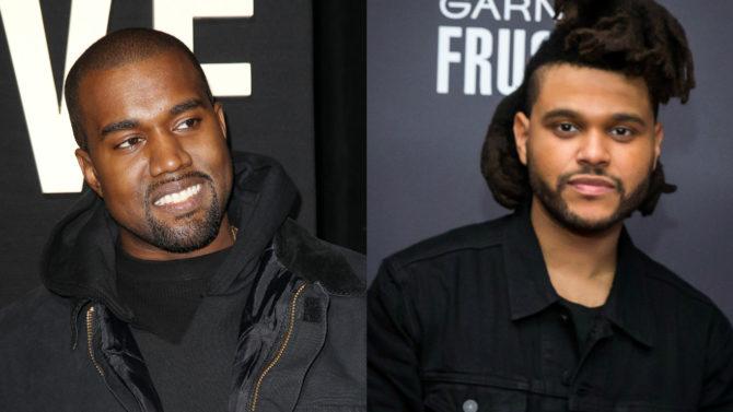 Kanye West y The Weeknd lideran