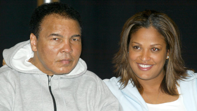 Muhammad Ali and Laila Ali MUHAMMAD
