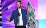 Chris Evans accepts the award for