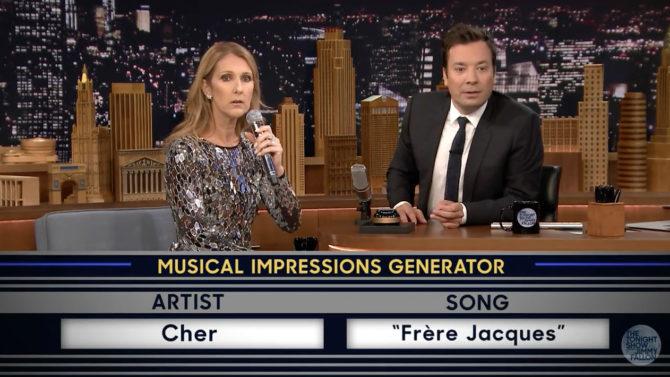 Video Celine Dion imita Rihanna Cher