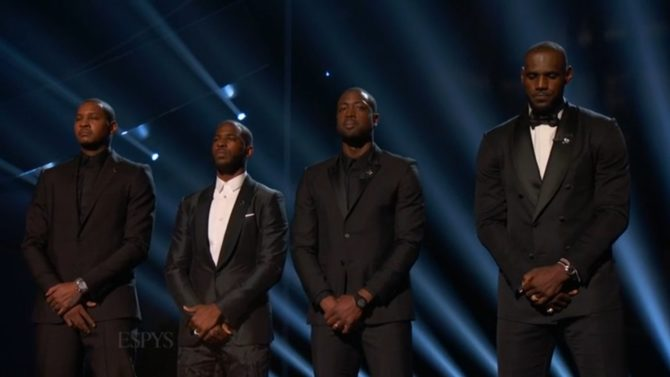 LeBron James, Dwayen Wade, Carmelo Anthony