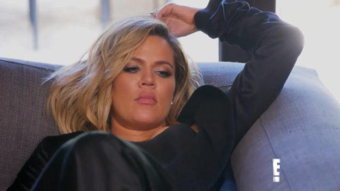 reacción de Khloé Kardashian selfie de