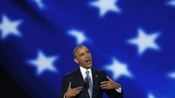 Barack Obama en la convencion nacional