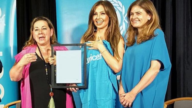 Thalía se convierte en embajadora de