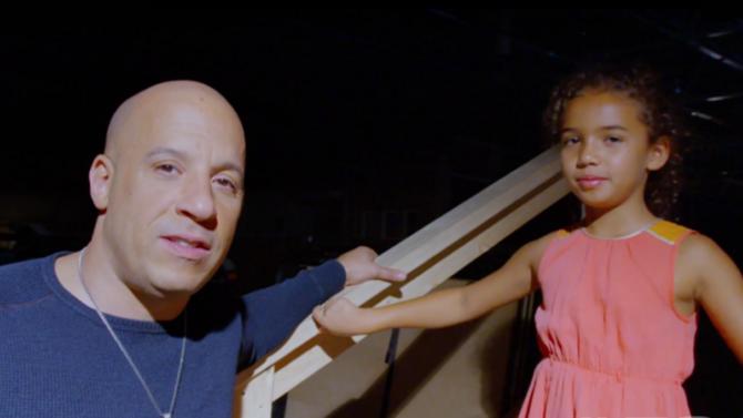 Vin Diesel lleva a su hija