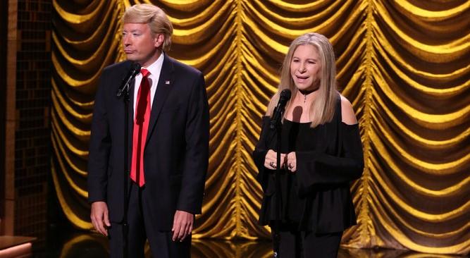 Barbra Streisand y Jimmy Fallon