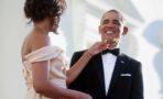 Foto Michelle Obama felicita Barack Obama