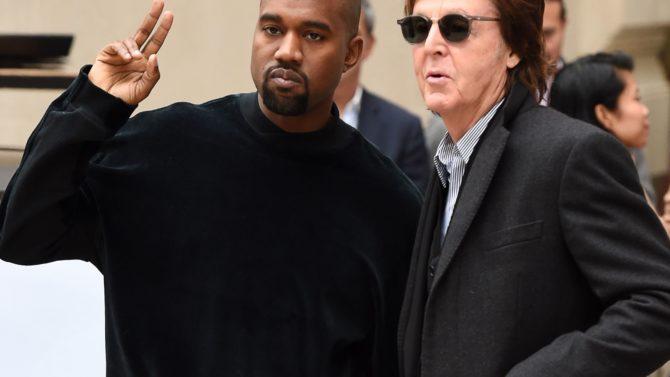 Paul McCartney y Kanye West