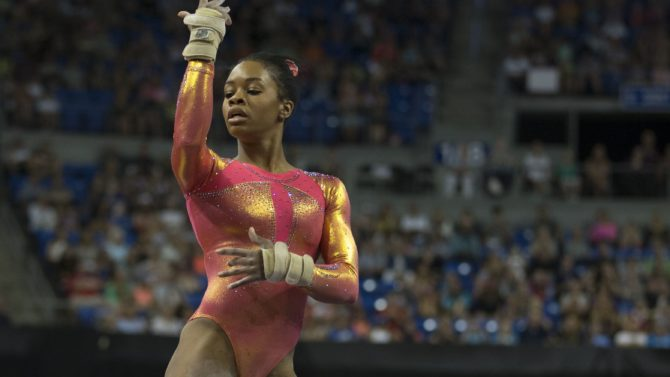 Gabby Douglas at day one of