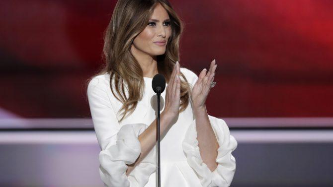 Melania Trump en la convención republicana