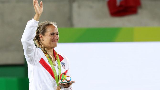 Mónica Puig, tras ganar oro para