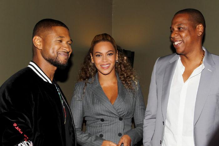 Usher, Beyoncé y  Jay Z