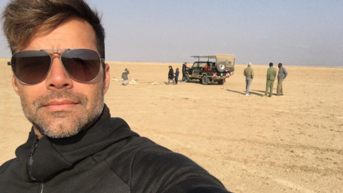 Ricky Martin se va de safari