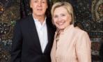 Paul McCartney y Hillary Clinton se