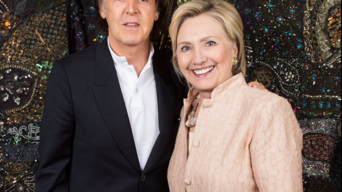 Paul McCartney y Hillary Clinton se