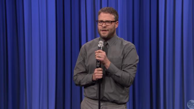 Seth Rogen en el Late Night