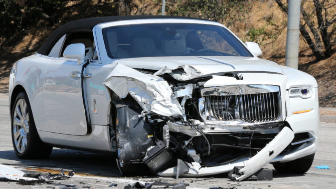 Accidente del auto de Kris Jenner