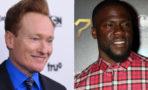 Conan O'Brien y Kevin Hart entrenan