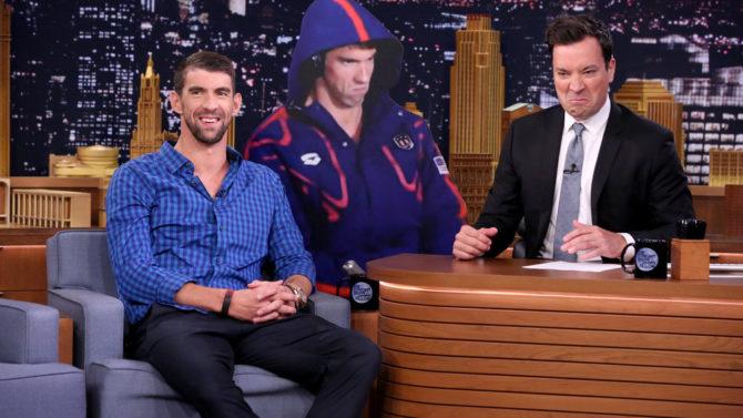 Michael Phelps en el Tonight Show
