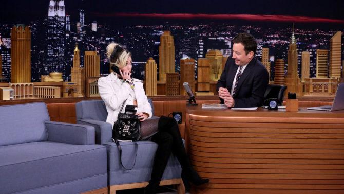Miley Cyrus y Jimmy Fallon