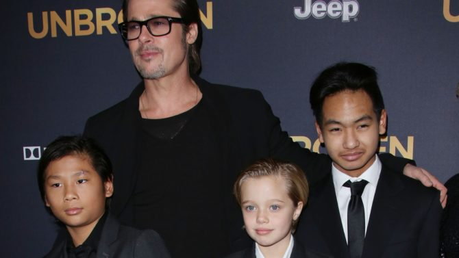 Brad Pitt e hijos