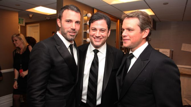 Ben Affleck, Jimmy Kimmel y Matt