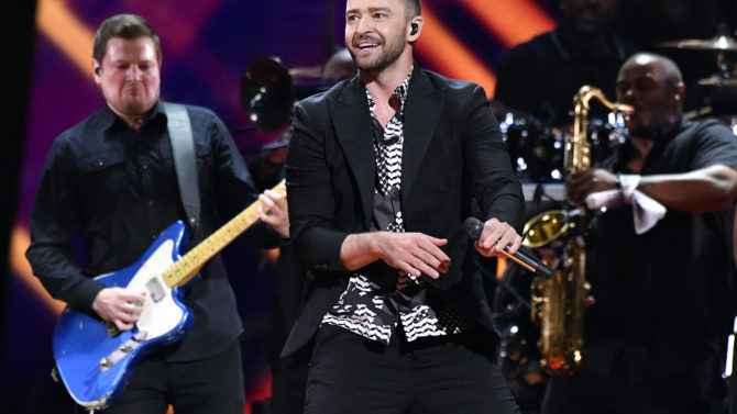 Justin Timberlake and band Eurovision Song